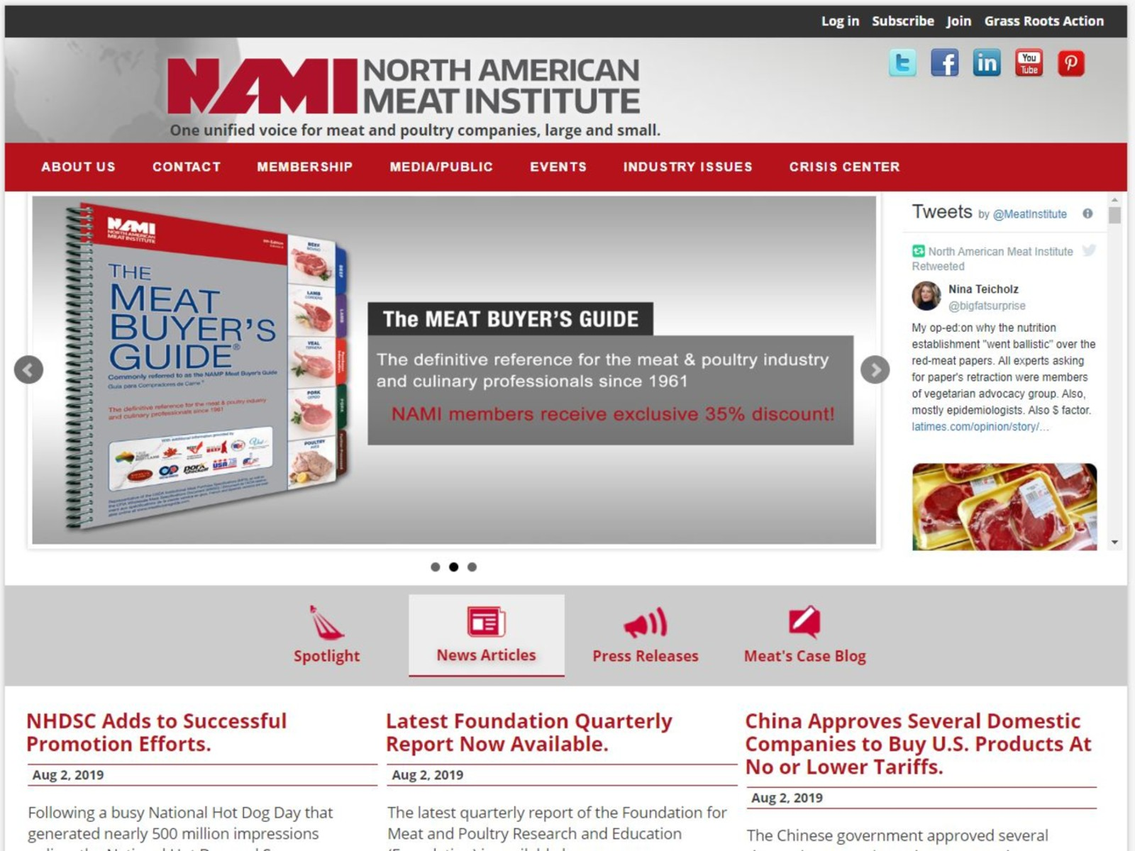 North American Meat Institute Challenging California Prop 12